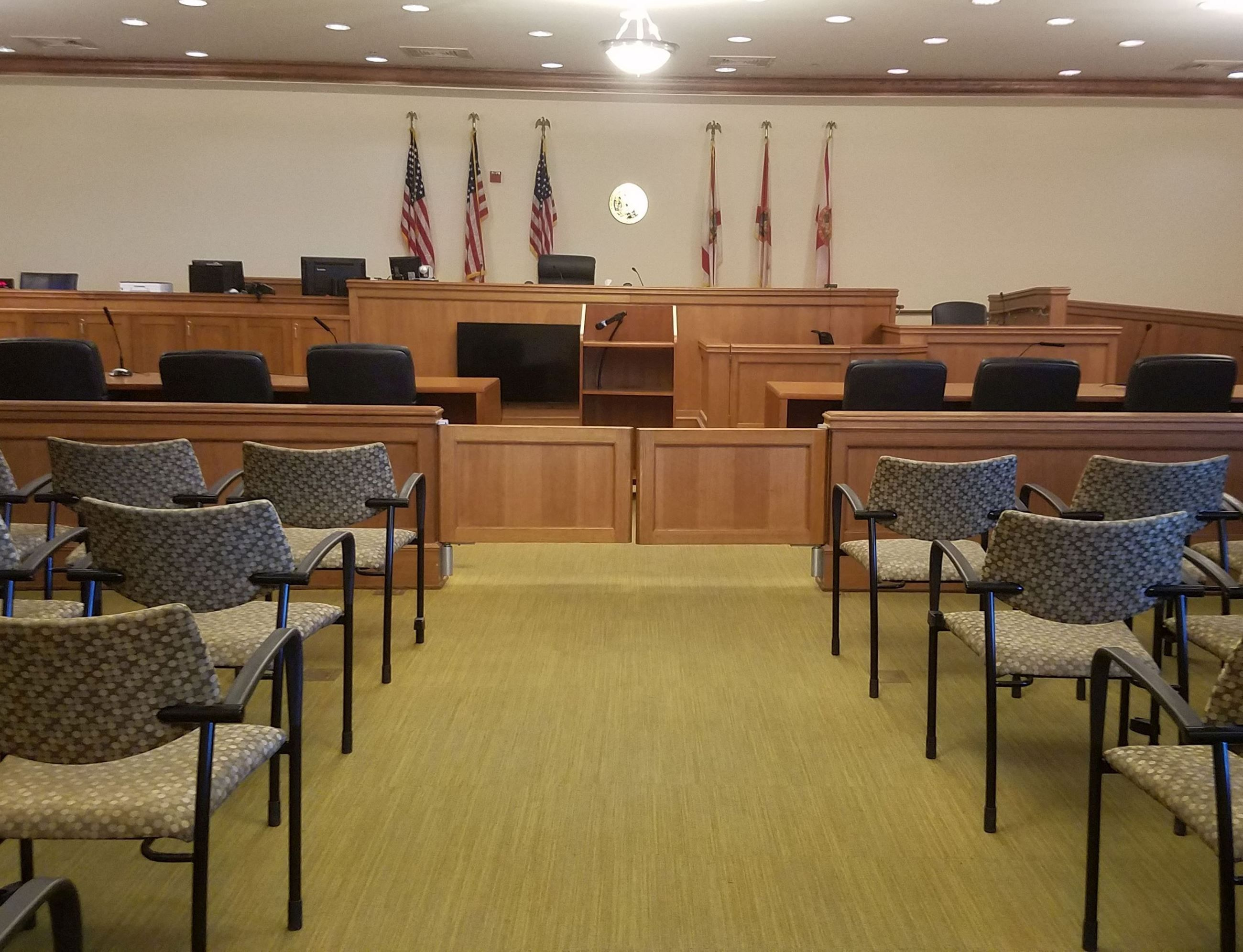 This is a courtroom
